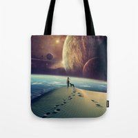 motivational Tote Bags featuring Explorer by POP.