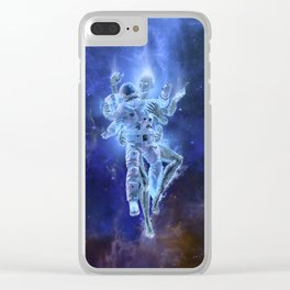 Deep Space Embrace Clear iPhone Case