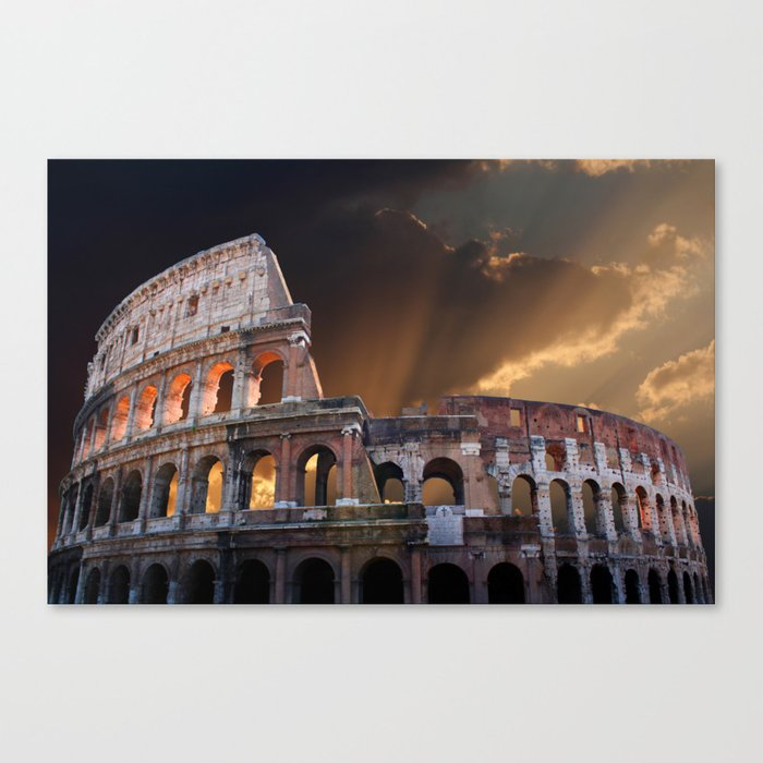The Coliseum of Ancient Rome Canvas Print