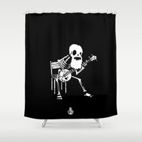 banjo Shower Curtains featuring Banjo wildwest by To The Bones