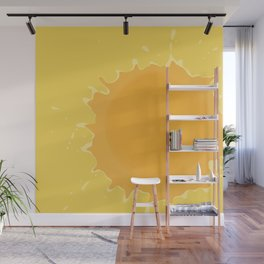 Splat on Yellow - by Friztin Wall Mural