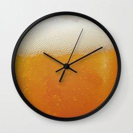 Beer Bubbles Wall Clock