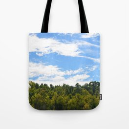 The Trees Above Tote Bag