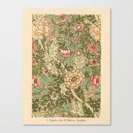 Antique Flower Wallpaper (Tapete) Design Canvas Print