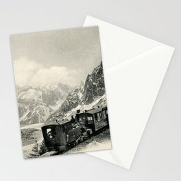 Antique train rack railway near Mont Blanc French Alps Stationery Cards