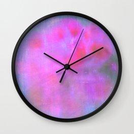 Navy peony 22 Wall Clock