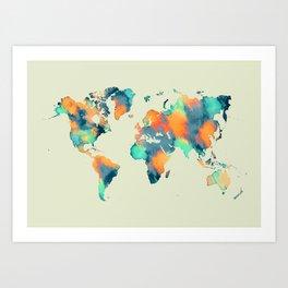 map world map 57 Art Print