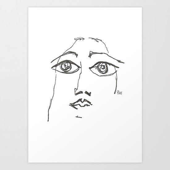 Woman gazing Art Print