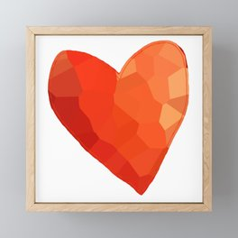 A Single Red Heart Framed Mini Art Print