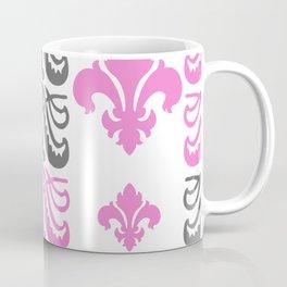 Fluer de Lis Custom Pink Coffee Mug