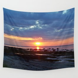 Sunset under Stormy Skies Wall Tapestry