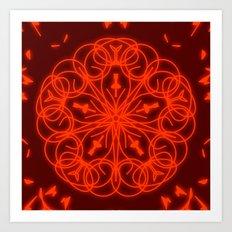 Salmon Mandala Art Print