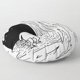 Enter the wave Floor Pillow