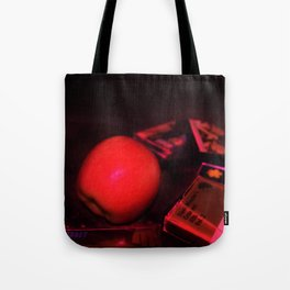 Apple and Cassettes Tote Bag