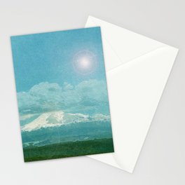 The mountains. Stationery Cards