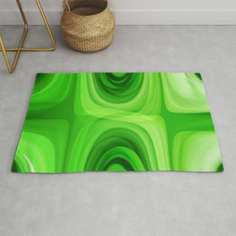 retro Pattern green Rug