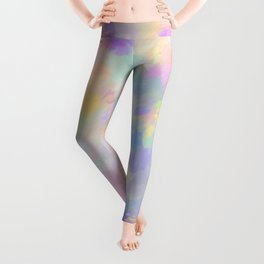 Secret Garden Colorful Abstract Impressionist Painting Pattern Leggings