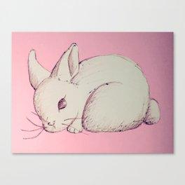 Pen Sketch Pastel Bunny Canvas Print