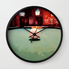Cue Ball Abstract  Wall Clock