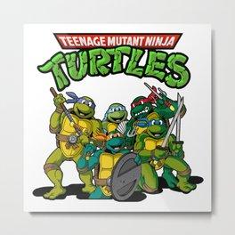 TMNT Ninja Turtles Metal Print