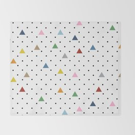 Pin Point Triangles Throw Blanket