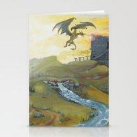 skyrim Stationery Cards featuring Skyrim by mixedlies