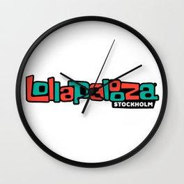 LOLLAPALOOZA FESTIVAL 2020 EUR Wall Clock