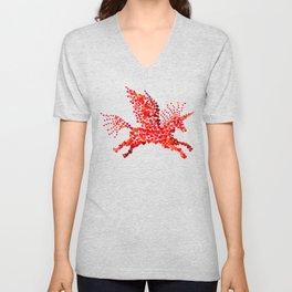 Extremely hearty unicorn pegasus Unisex V-Neck