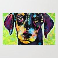 dachshund Area & Throw Rugs featuring Dachshund by Gary Grayson