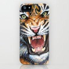 Tiger Roaring Wild Jungle Animal iPhone (5, 5s) Slim Case