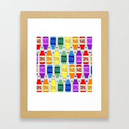 RAINBOW IPA BEER PATTERN Framed Art Print