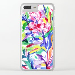 Abstract Roses 3 Clear iPhone Case