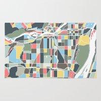 portland Area & Throw Rugs featuring Portland. by Studio Tesouro