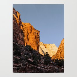 WINTER LIGHT ON ZION Poster