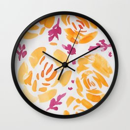 9  |  190412 Flower Abstract Watercolour Painting Wall Clock