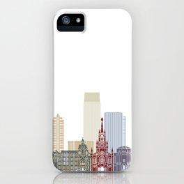 Medellin  skyline poster iPhone Case