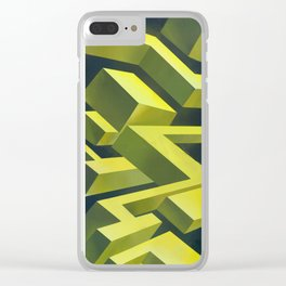 Cubic thunders Clear iPhone Case