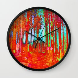 Trippy Forest Wall Clock