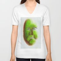grumpy V-neck T-shirts featuring Grumpy by Stro