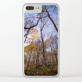 Out of the Woods - Fall Forest Photography Clear iPhone Case