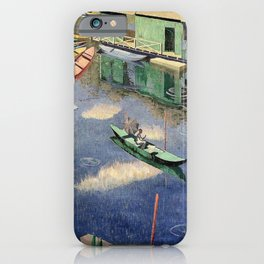 The Romantic Beauty of a Paris Summer on the River Seine landscape painting by Norman Lloyd iPhone Case
