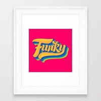 funky Framed Art Prints featuring Funky by Roberlan Borges