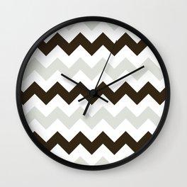 Chevron Makes Me Happy Wall Clock
