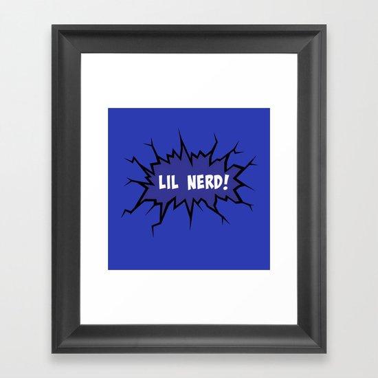 Lil nerd Framed Art Print