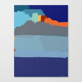 Abstract landscape French Riveria Canvas Print