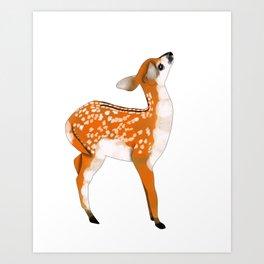 Woodland Creatures Series: Baby Deer Art Print
