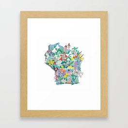 Wisconsin Wildflowers Framed Art Print