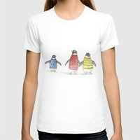 penguins T-shirts featuring penguins by Maria Durgarian