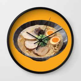 Japanese Tonkotsu Ramen Polygon Art Wall Clock