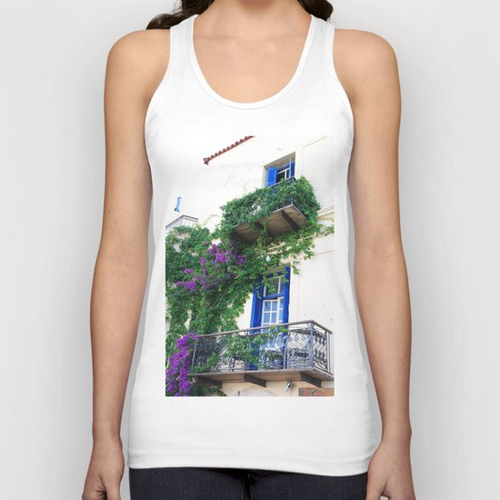 Chania Old Town View Unisex Tank Top